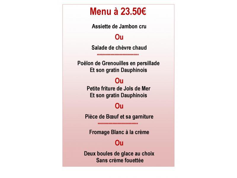 Menu des lônes 23.50 €