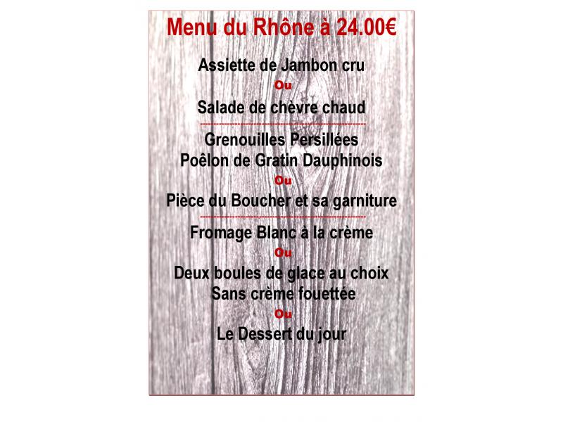 Menu du Rhône 24.00 €